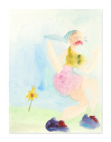 2020 Pretty runner standing in Field Hills  25x33 cm acuarela sobre papel/ watercolour on paper
